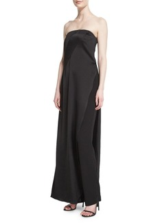 DKNY Strapless Matte & Shine Jumpsuit