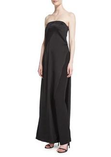DKNY Donna Karan Strapless Matte & Shine Jumpsuit
