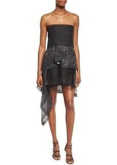 DKNY Donna Karan Strapless Sculpted-Peplum Cocktail Dress