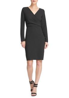 DKNY Donna Karan Striped Long Sleeve Sheath Dress