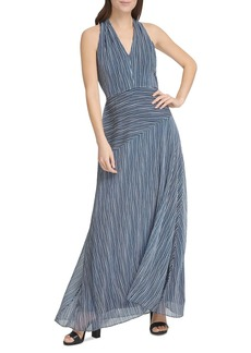DKNY Donna Karan New York Striped Maxi Dress