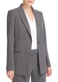 DKNY Donna Karan Striped Notch Lapel Jacket
