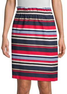 DKNY Donna Karan Striped Pull-On Skirt