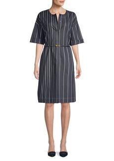 DKNY Donna Karan Striped Shift Dress