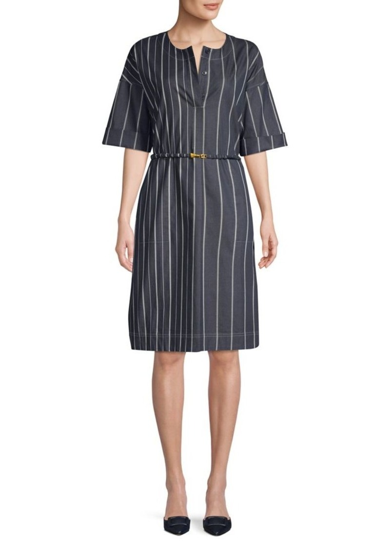DKNY Donna Karan Striped Shift Dress