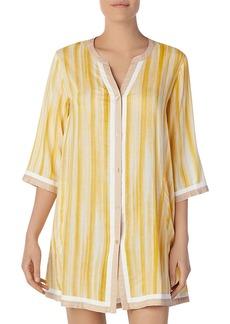 DKNY Donna Karan Striped Short Sleepshirt