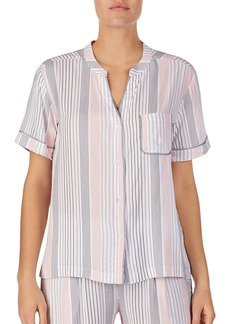 DKNY Donna Karan Striped Short Sleeve Pajama Top