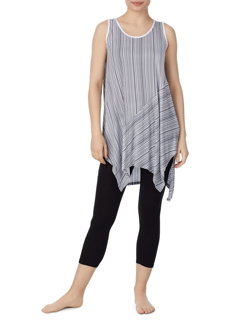 DKNY Donna Karan Striped Tunic & Leggings Set