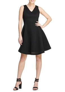 DKNY Donna Karan Textured Fit-&-Flare Dress