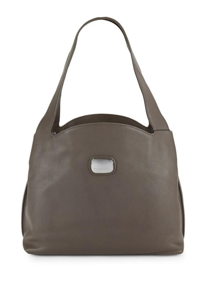 d94244ac435 SALE! DKNY Donna Karan New York Abbie Leather Hobo Bag