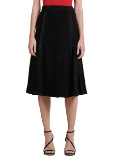 DKNY Donna Karan Textured Pleat A-Line Skirt