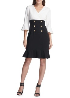 DKNY Donna Karan Three-Quarter Sheath Dress