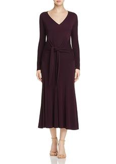 Donna Karan Tie-Waist Midi Dress