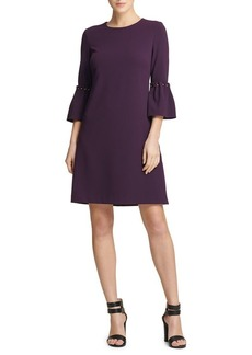 DKNY Donna Karan Trumpet Sleeve Mini Dress