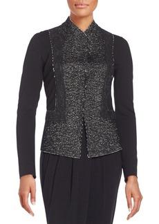 DKNY Donna Karan Tweed Needlepunch Jacket