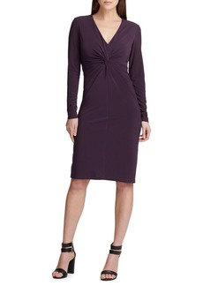 DKNY Donna Karan Twisted Front Sheath Dress