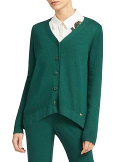DKNY Donna Karan V-Neck Buttoned Cardigan