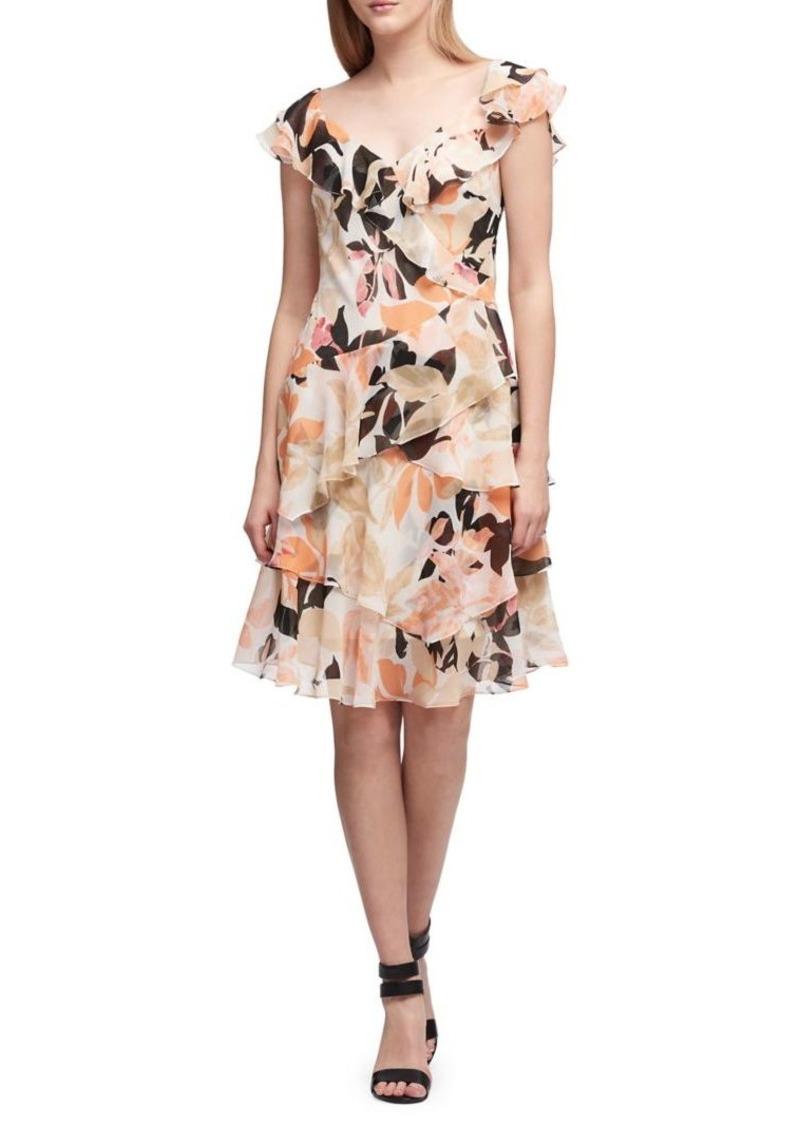 Cascading Ruffle Dress
