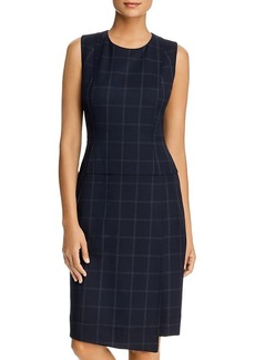 DKNY Donna Karan New York Windowpane Sheath Dress