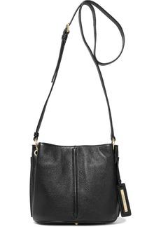 DKNY Donna Karan Woman Alan Pebbled-leather Shoulder Bag Black