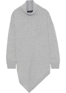 DKNY Donna Karan Woman Asymmetric Cashmere Turtleneck Sweater Gray