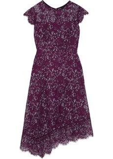DKNY Donna Karan Woman Asymmetric Lace Dress Purple