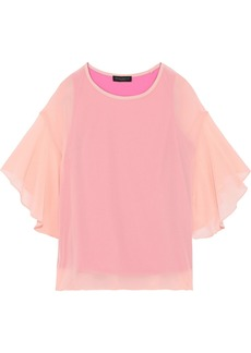 DKNY Donna Karan Woman Draped Chiffon Blouse Pink