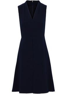 DKNY Donna Karan Woman Flared Stretch-crepe Dress Navy