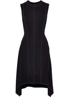 DKNY Donna Karan Woman Fluted Ponte Dress Black