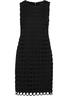DKNY Donna Karan Woman Guipure Lace Mini Dress Black