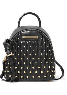 DKNY Donna Karan Woman Mini Studded Quilted Leather Backpack Black