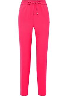 DKNY Donna Karan Woman Neon Stretch-crepe Track Pants Bright Pink