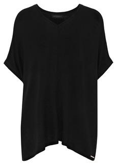 DKNY Donna Karan Woman Oversized Jersey Top Black