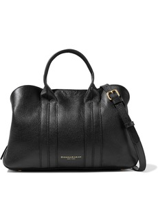 DKNY Donna Karan Woman Perry Textured-leather Shoulder Bag Black