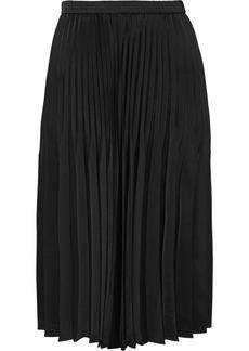DKNY Donna Karan Woman Pleated Satin Skirt Black