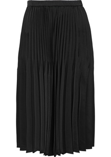 DKNY Donna Karan Woman Pleated Satin Skirt Black