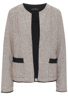 DKNY Donna Karan Woman Ponte-paneled Tweed Jacket Taupe