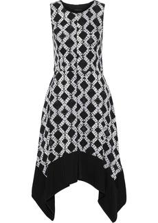 DKNY Donna Karan Woman Printed Washed-crepe Dress Black