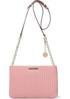 DKNY Donna Karan Woman Quilted Leather Shoulder Bag Pastel Pink