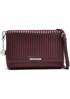 DKNY Donna Karan Woman Quilted Leather Shoulder Bag Plum