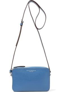 DKNY Donna Karan Woman Rina Mini Textured-leather Shoulder Bag Blue