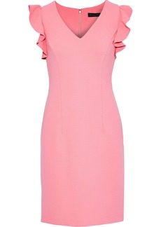 DKNY Donna Karan Woman Ruffle-trimmed Stretch-crepe Dress Bubblegum
