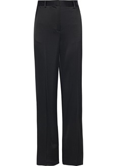 DKNY Donna Karan Woman Satin Wide-leg Pants Black