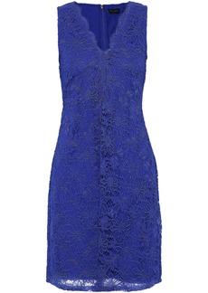 DKNY Donna Karan Woman Scalloped Corded Lace Mini Dress Violet