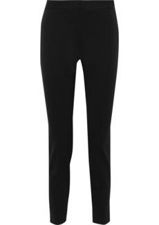 DKNY Donna Karan Woman Stretch-cady Slim-leg Pants Black