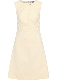 DKNY Donna Karan Woman Stretch-cotton Dress Cream