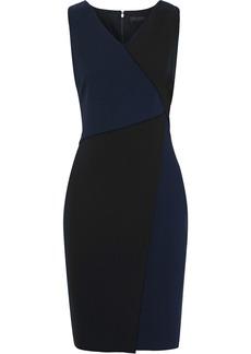 DKNY Donna Karan Woman Two-tone Cady Dress Black
