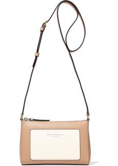 DKNY Donna Karan Woman Two-tone Leather Shoulder Bag Neutral