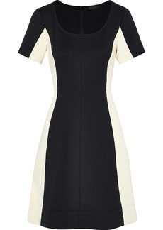 DKNY Donna Karan Woman Two-tone Ponte Dress Black