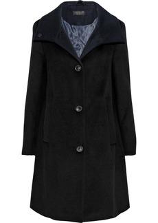 DKNY Donna Karan Woman Wool-blend Felt Coat Black